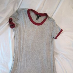 Forever 21 Gray T-Shirt Dress